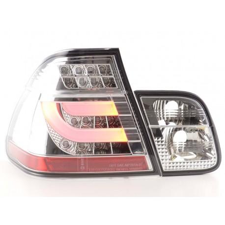 fanali posteriori LED BMW serie 3 E46 limousine anno di costr. 02-05 cromati
