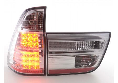 fanali posteriori LED BMW X5 E53 anno di costr. 98-02- cromati