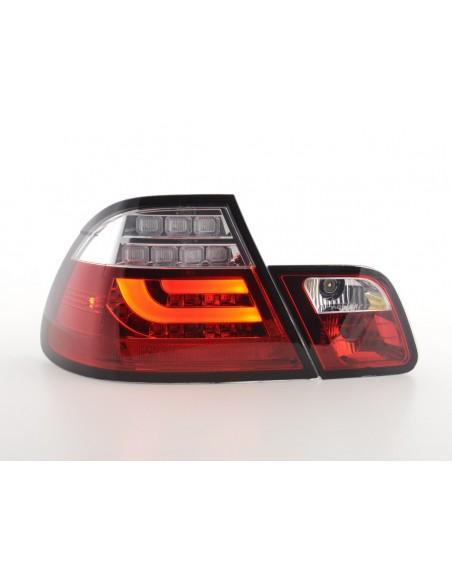 fanali posteriori LED BMW serie 3 E46 Coupe anno di costr. 03-07 rosso/chiaro