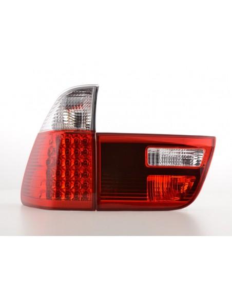 fanali posteriori LED BMW X5 E53 anno di cost. 04-05 rosso/chiaro