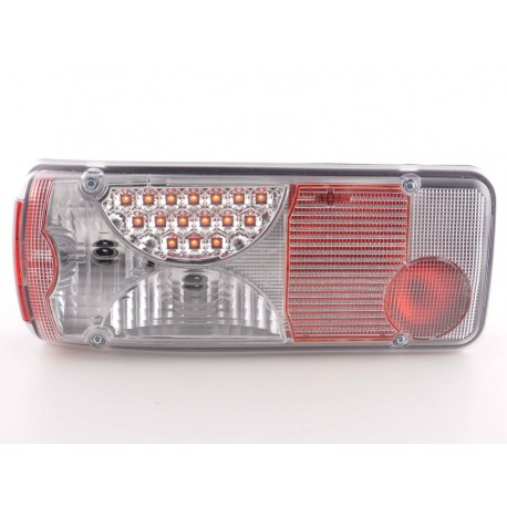 fanali posteriori LED Mercedes-Benz Zetros- cromati