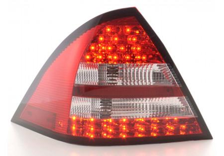 fanali posteriori LED Mercedes-Benz classe C tipo W203 limousine anno 05-07- rosso/chiaro