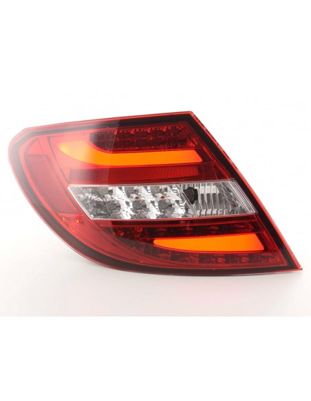 fanali posteriori LED Mercedes classe C tipo W204 anno di costr. 07-11 rosso /chiaro
