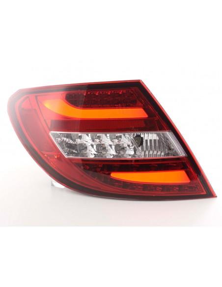 fanali posteriori coppia LED Mercedes C-classe tipo W204 anno di costruzione 2011- rosso/chiaro
