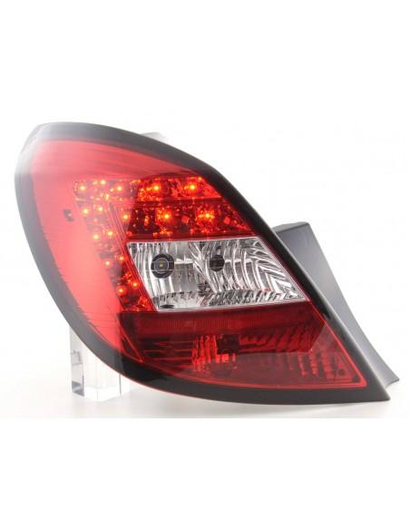 fanali posteriori LED Opel Corsa D 5 porte anno di costr. 06-10- rosso/chiaro
