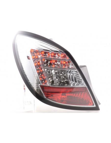 fanali posteriori LED Opel Corsa D 5 porte anno di costr. 06-10- cromati