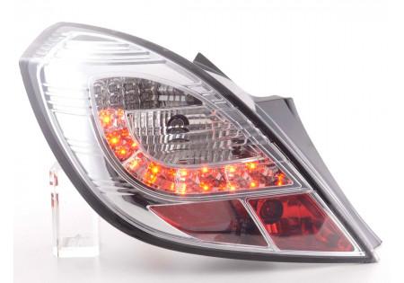 fanali posteriori LED Opel Corsa D 3 porte anno di costr. 06-10- cromati