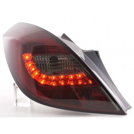 fanali posteriori LED Opel Corsa D 3 porte anno di costr. 06-10- rosso/nero