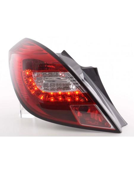fanali posteriori LED Opel Corsa D 3 porte anno di costr. 06-10- rosso/chiaro