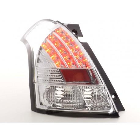 fanali posteriori LED Suzuki Swift anno di costr. 04-10- cromati
