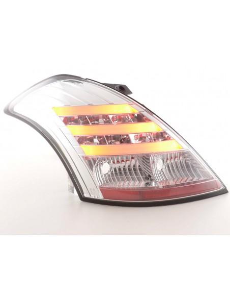 fanali posteriori LED Suzuki Swift anno di costr. 2011-- cromati