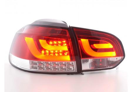 fanali posteriori LED VW Golf 6 tipo 1K anno 2008-2012 rosso/chiaro con frecce a LED