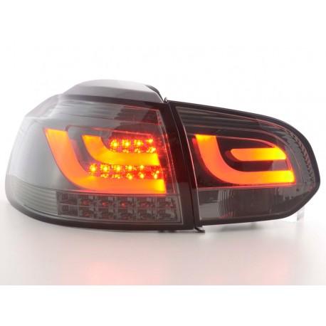 Led fanali posteriori VW Golf 6 tipo 1K anno di costruzione 2008-2012 nero con indicatore a LED