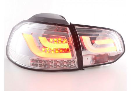 Led fanali posteriori VW Golf 6 tipo 1K anno di costruzione 2008-2012 cromato con indicatore a LED