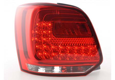 fanali posteriori LED VW Polo 6R anno di costr. a partire da 2009 chiaro/rosso