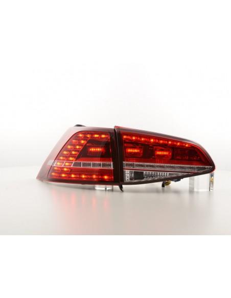 fanale posteriore a LED per VW Golf 7 anno di cost. da 2012 rosso