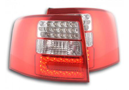 fanale posteriore a LED per Audi A6 limousine (tipo 4B) anno di costr. 97-03 chiaro/rosso