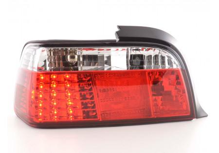 fanale posteriore a LED per BMW serie 3 Coupe (tipo E36) anno di costr. 91-98 chiaro/rosso