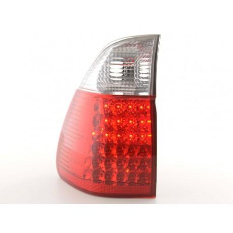 fanale posteriore a LED per BMW X5 (tipo E53) anno di costr. 98-02 nero/rosso
