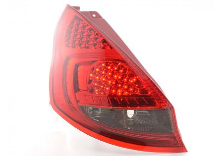 fanale posteriore a LED per Ford Fiesta 7 (JA8) 5-porte anno di costr. 08-- rosso/nero