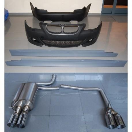 KIT ESTETICI BMW E60 04-09 LOOK M-TECH ABS ESCARICO AC-TCB6112611361230043