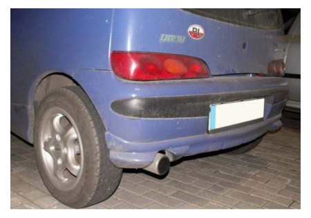 Sottoparaurti posteriore + anteriore fiat seicento cbtf0222