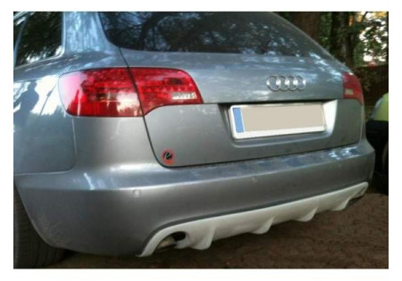 Sottoparaurti posteriore diffusore RS6 LOOK audi a6 c6 AVANT
