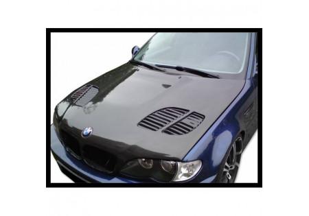 COFANO IN FIBRA DI CARBONIO BMW E46 2002-2006 4-Door GTR CON PRESA ARIA