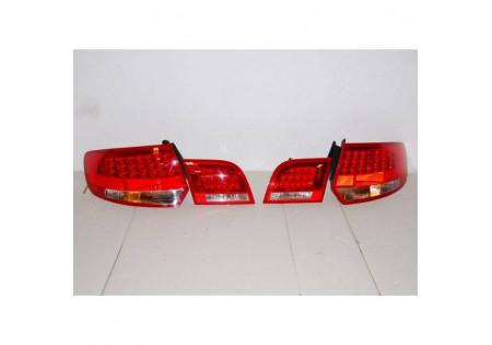 set fari posteriori Audi A3 Sportback '04-08 Led rossi/neri